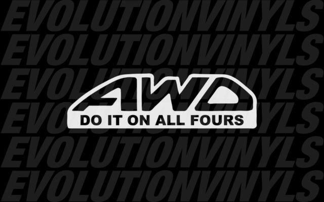 AWD Do it on All Fours sticker decal Subaru ken block JDM racing