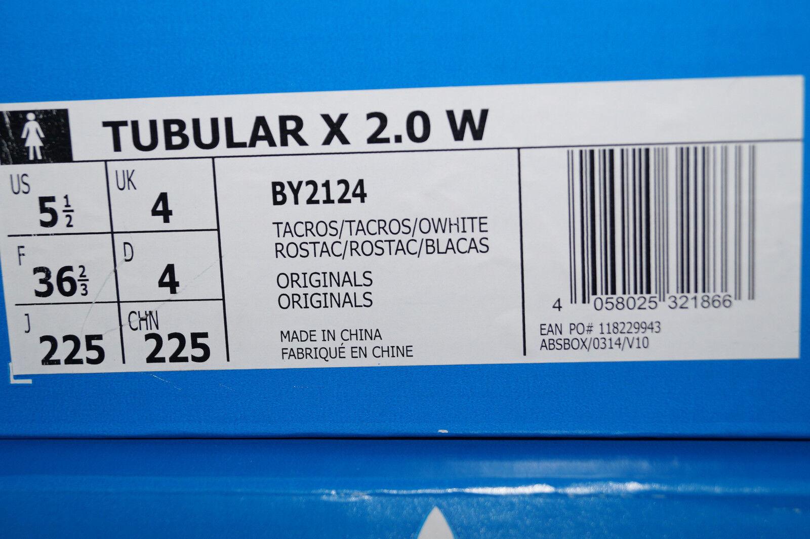 Descuento Adidas Originals Originals Originals tubular x 2.0 PK primeknit W UE 37.3 UK 4.5 rosa blanco roto by2124 fa81dc