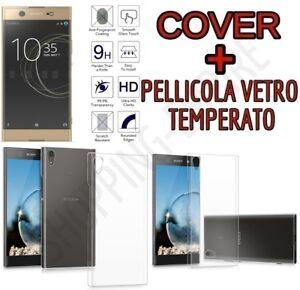 CUSTODIA-COVER-TPU-GEL-per-SONY-XPERIA-XA1-ULTRA-PELLICOLA-in-VETRO-TEMPERATO