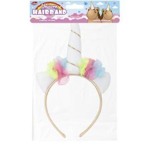 Einhorn Kopf Band Haarschmuck Mädchen-accessoires 28997 Hupe Bunt Girlande Mythisch Kreatur Kinder Spaß
