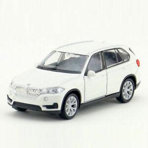 BMW-X5-SUV-coche-modelo-escala-1-36-Diecast-Juguete-Vehiculo-Tire-hacia-atras-Ninos-Regalo-Blanco