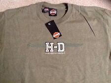 Harley Davidson embroidered H-D logo olive green Shirt  Nwt Men's Large