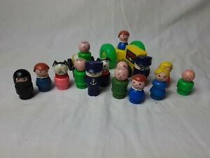 FISHER-PRICE-Vintage-Little-People-Plastic-Figures-Large-Bundle