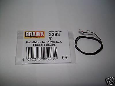 Brawa 3293 H0 Kabelbirnen hell 16 Volt 30mA NEU OVP//