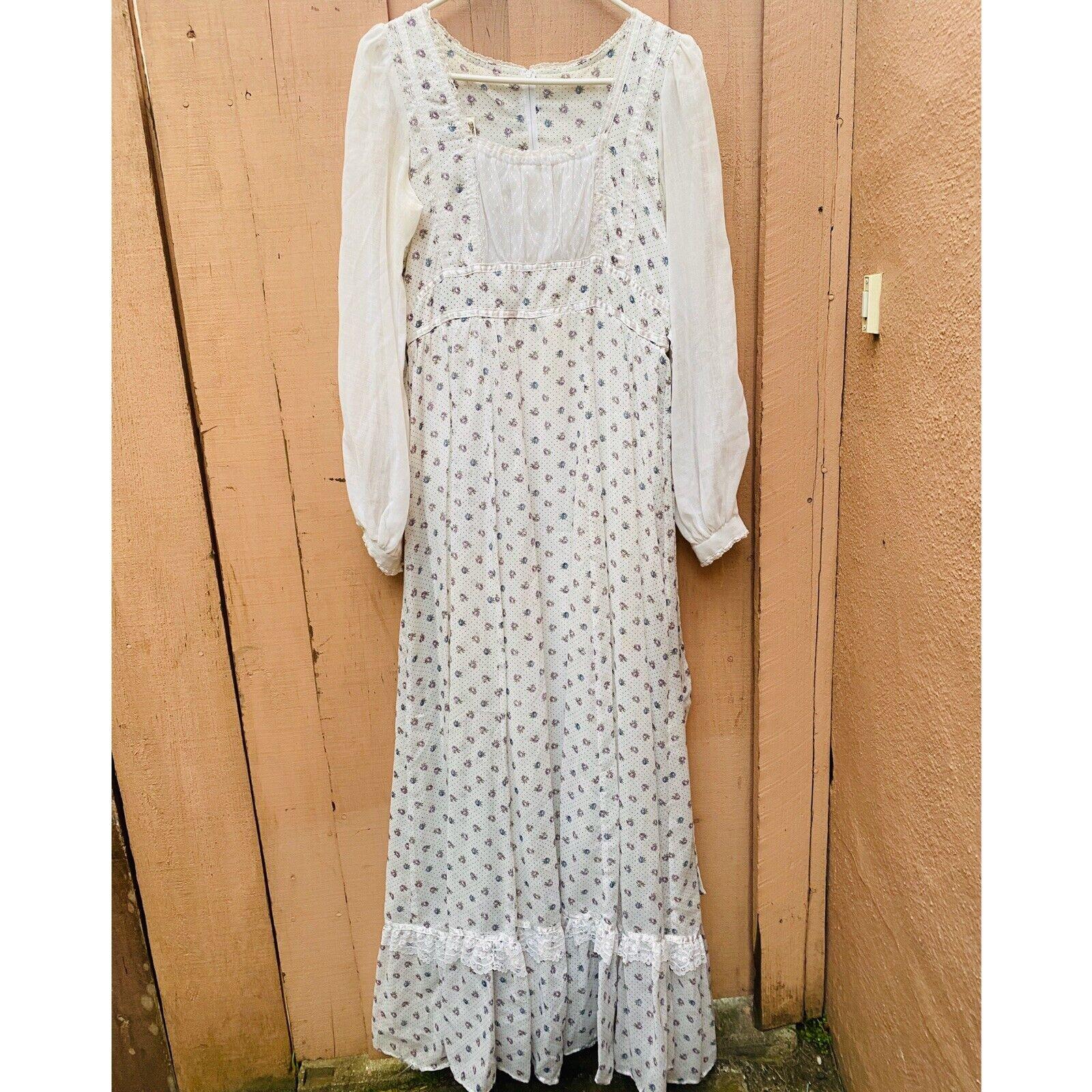 1970's Gunne Sax Prairie Cottage Core Dress - image 4