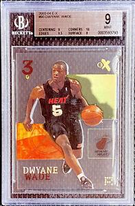 Dwyane-Wade-2003-04-Fleer-EX-Rookie-RC-90-Miami-Heat-Mint-BGS-9