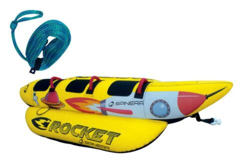 Spinera Rocket 3 Person Banana Funtube Package Red