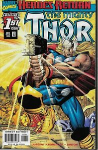 THE-MIGHTY-THOR-1-HEROES-RETURN-WRAPAROUND-COVER-MARVEL-COMICS-1998-BAG-amp-BOARD