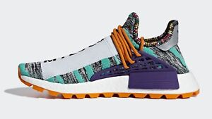 5846cbe393279 Adidas HU NMD Pharrell size 12 Human Race Solar Pack Orange Purple ...