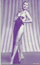 Pin Up- Semi Nude- Vendor Arcade / Mutoscope Card- Long Legs- Heels- Blond Babe