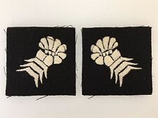 Vintage WWII British Army 6th Armoured Division cloth sleeve formation patches