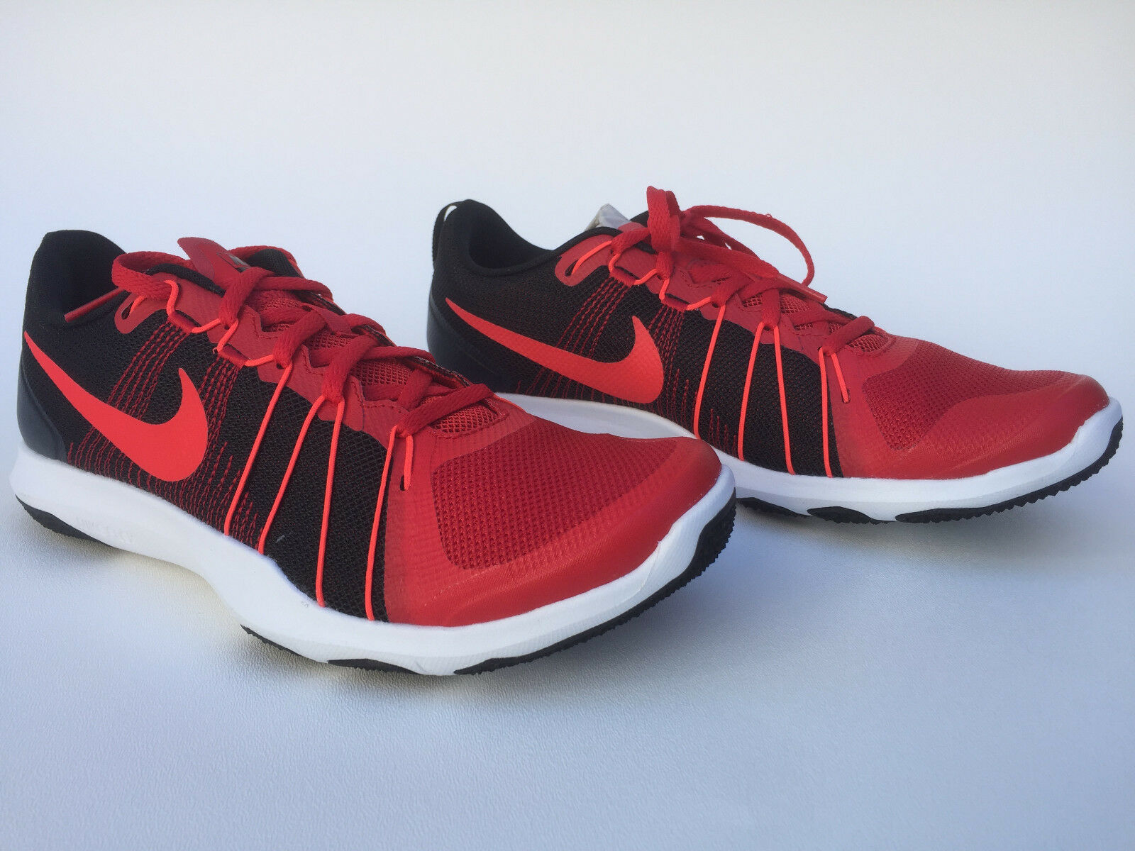 4842c2a457aa Nike Flex Train Aver Running Shoes Mens Red Black White 831568600 ...