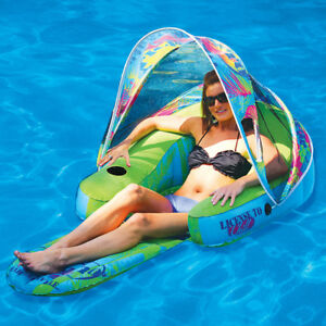 Surprising Details About Margaritaville Swimming Pool Inflatable Cabana Chair W Canopy Lounge Float Gmtry Best Dining Table And Chair Ideas Images Gmtryco