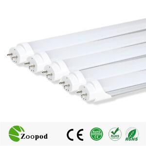 cold white 4ft t8 led light tube bulb replacement fluorescent lighting. Black Bedroom Furniture Sets. Home Design Ideas