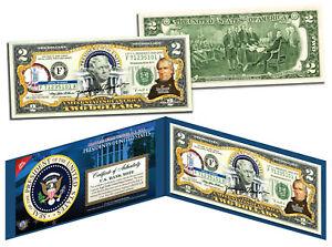 ZACHARY-TAYLOR-12th-U-S-President-Colorized-2-Bill-US-Genuine-Legal-Tender