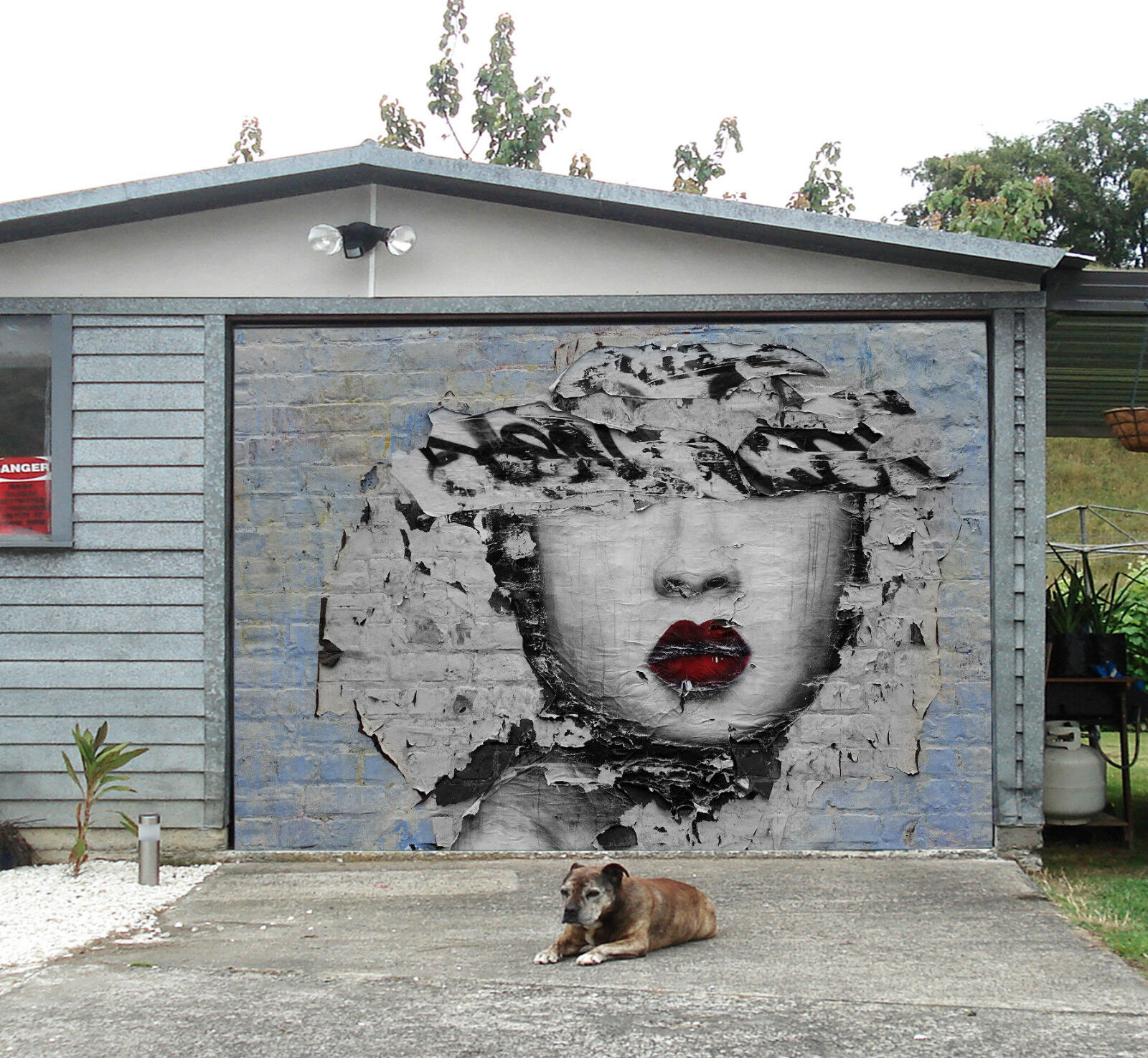 3D Graffiti Woman Garage Door Murals Wall Print Decal Wall Deco AJ WALLPAPER IE