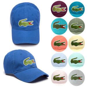 Lacoste-Men-039-s-Cotton-Embroidered-Big-Croc-Logo-Adjustable-Hat-Cap