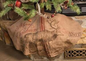 Image Is Loading Nwt 48 034 Rustic Deer Reindeer Printed Burlap