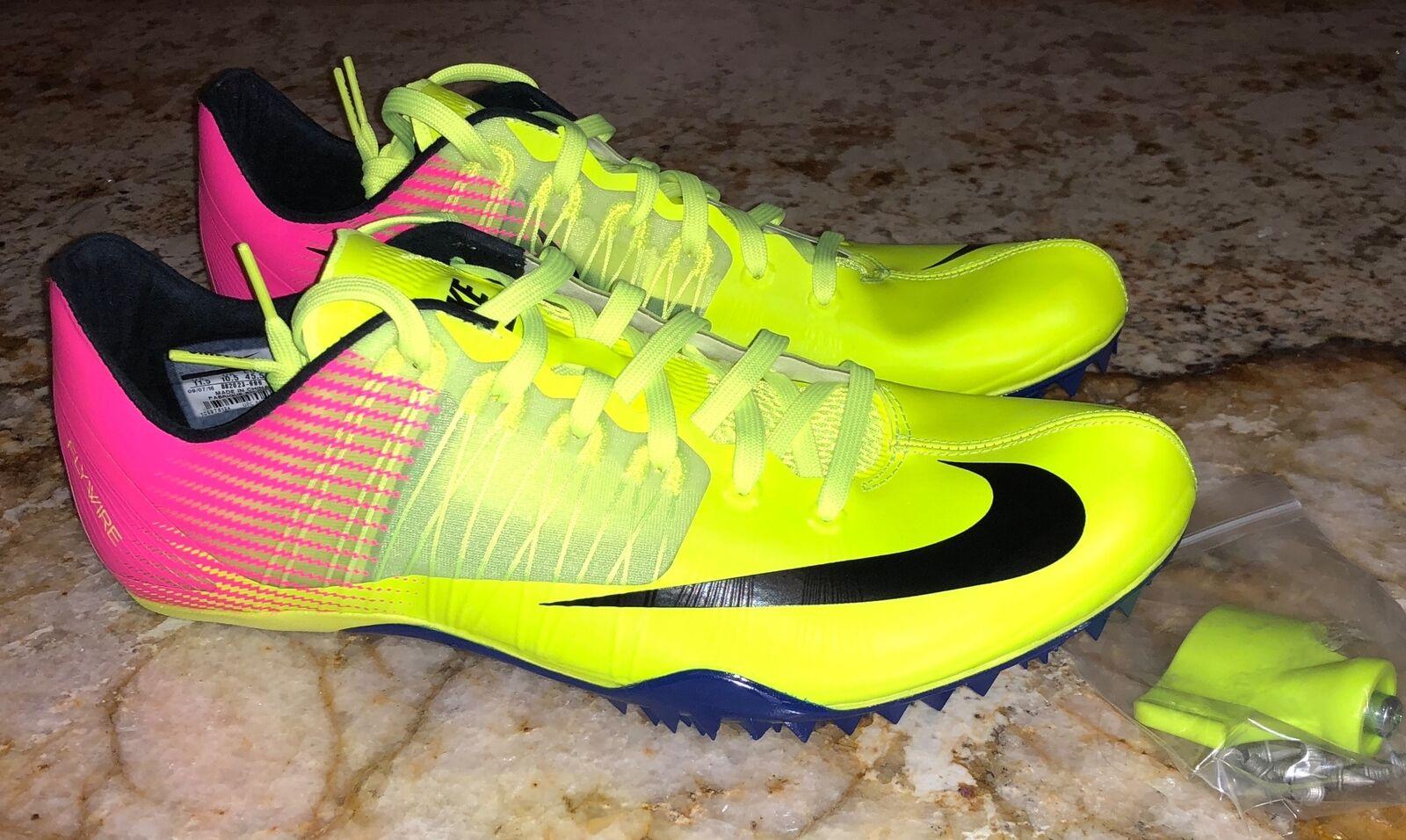 Nike celar 5 sprint traccia spuntoni scarpe rosa nero da nuovi Uomo 10 10,5 11 11,5