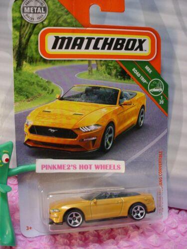 2019 Matchbox 1.2m18 Ford Mustang Cabrio Orange MBX Road Trip 1//20 L
