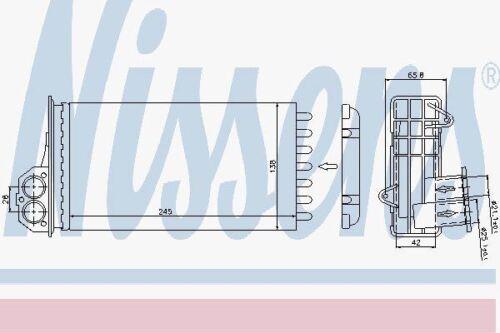 Nissens 72941 Heater Matrix fit PEUGEOT 206 98