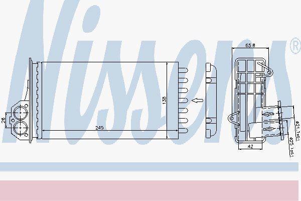 Nissens 72941 Calefactor para Peugeot 206 98