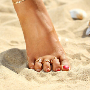 Women Toe Ring Fashion Retro Simple Jewellery Beach Lady Jewelry adjustable uk