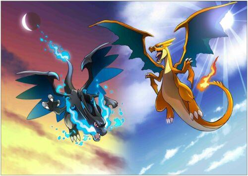 Charizard Dragon Pokemon Art Silk Poster 8x12 12x18