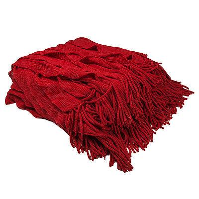 Ruffle Throw Blanket: Bambury Cambridge Ripple Soft Decor Sofa Bed Travel Picnic