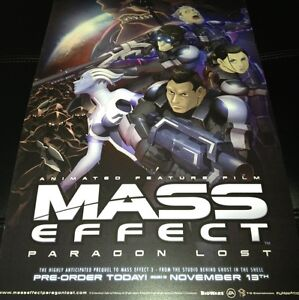 Sdcc 2012 Mass Effect Poster 11 X17 Card Stock Paragon Lost Movie