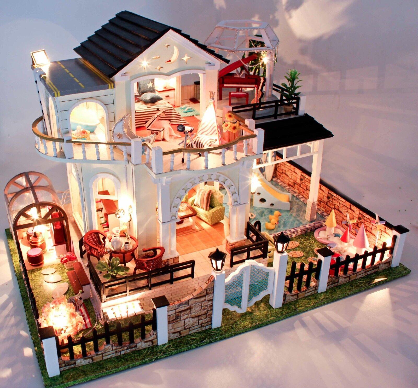 Bricolaje Artesanía Miniatura Proyectos Madera Casa de Muñecas mi Poco In Turkey