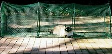 KW100P Kittywalk Deck and Patio Outdoor Cat Enclosure Green