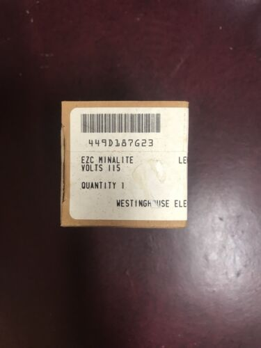 Pilot Light Minalight Green Lens Westinghouse 449D187G23,NIB EZC 115Volts