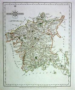 Antique-map-Worcestershire