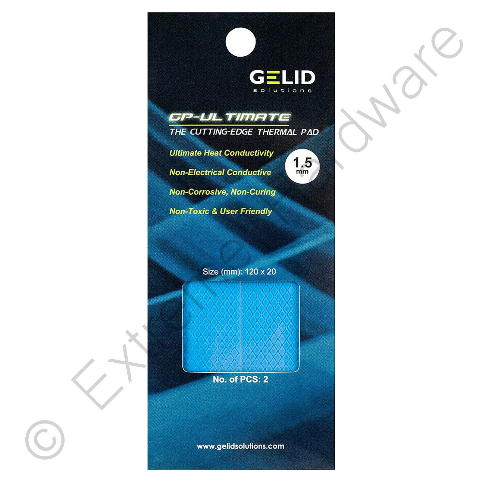 2 X Packung Gelid Solutions Gp-Ultimate Thermal Pad 120 x 20 X 1.5 MM TP VP04 R