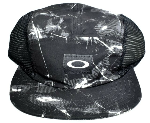 335844b2 OAKLEY 5 Panel Performance Hat/Cap Black Battle One Size 911685-02C >NEW