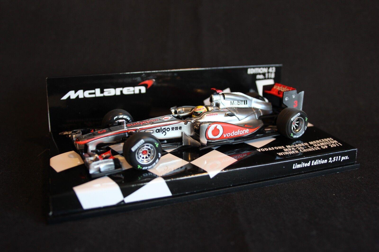 Minichamps McLaren Mercedes MP4-26 2011 1 43 Lewis Hamilton (GBR)