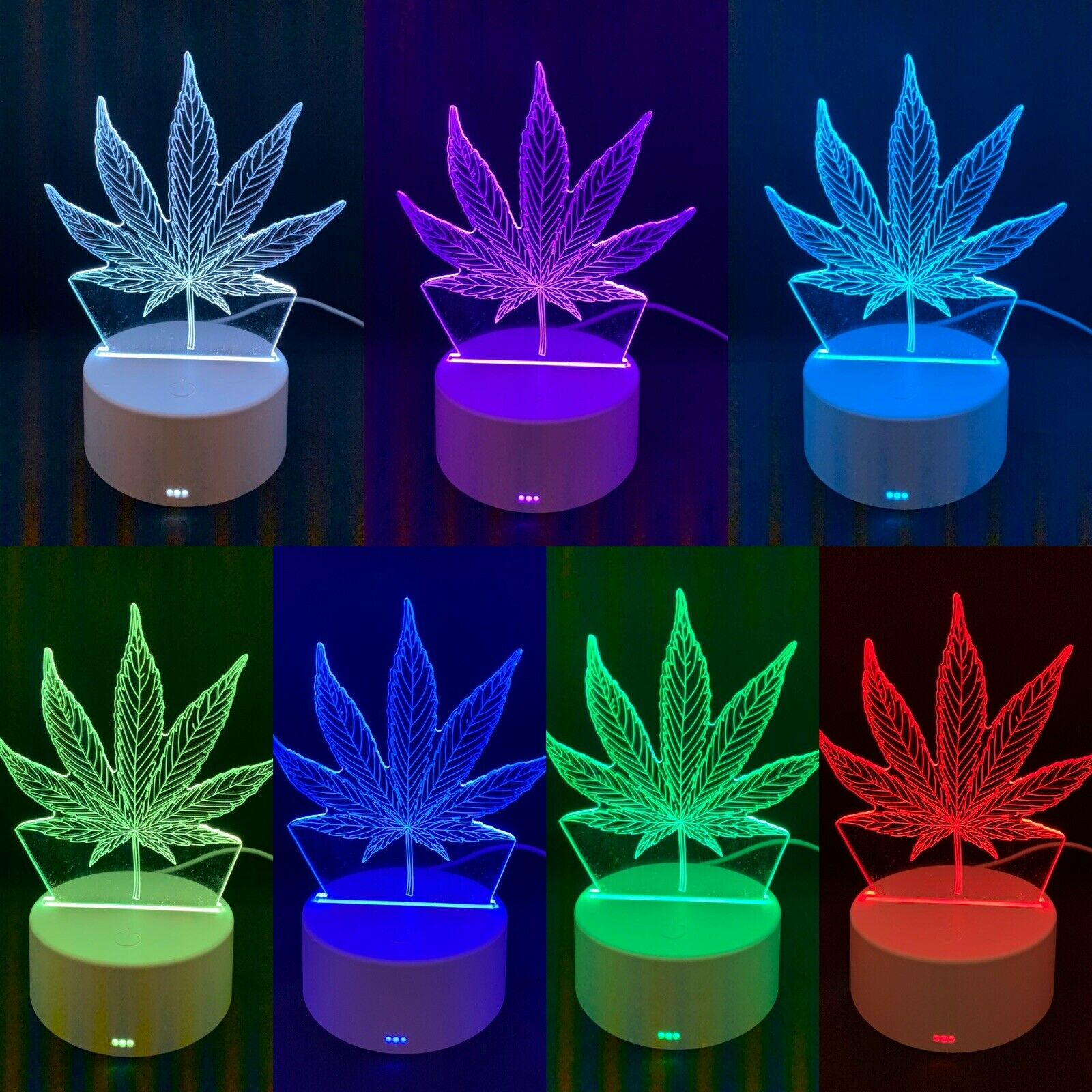 3D illusion Visual Night Light LED Desk Table Lamp Bedroom Home Decors Kids Gift