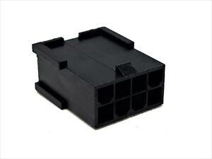 CPU-EPS-Male-Connector-8-Pin-Stecker-inkl-8-Terminals-Pins-schwarz