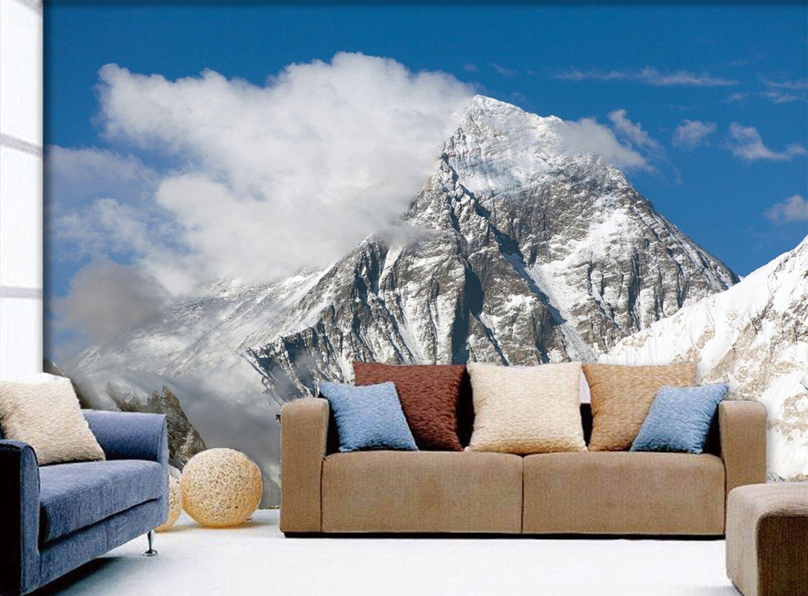 3D Clouds Snow Mountain 724 Wallpaper Mural Paper Wall Print Wallpaper Murals UK