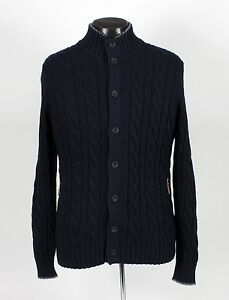 BRUNELLO CUCINELLI Cotton Cable Knit Cardigan Sweater - Blue ...