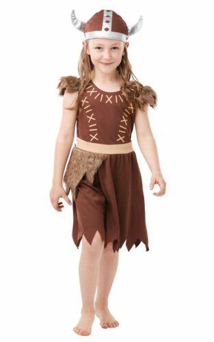 Viking wairrior Ragazze Bambini Costume Costume Vestito scuola storia libro settimana