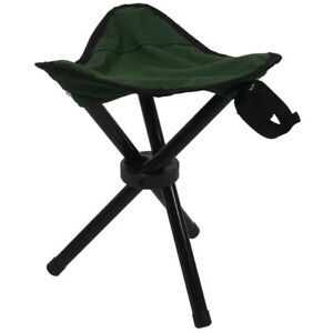 ae256dfa25c5 Details about Folding Tripod Stool Outdoor Portable Camping Seat  Lightweight Fishing Chair 6Q6