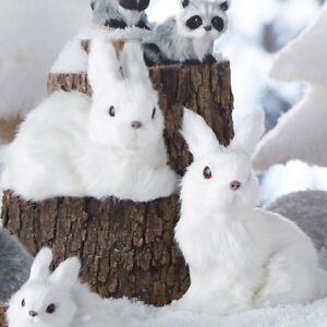 "NEW!~RAZ Imports~6"" Winter White Bunny Rabbit Ornament~Set ..."