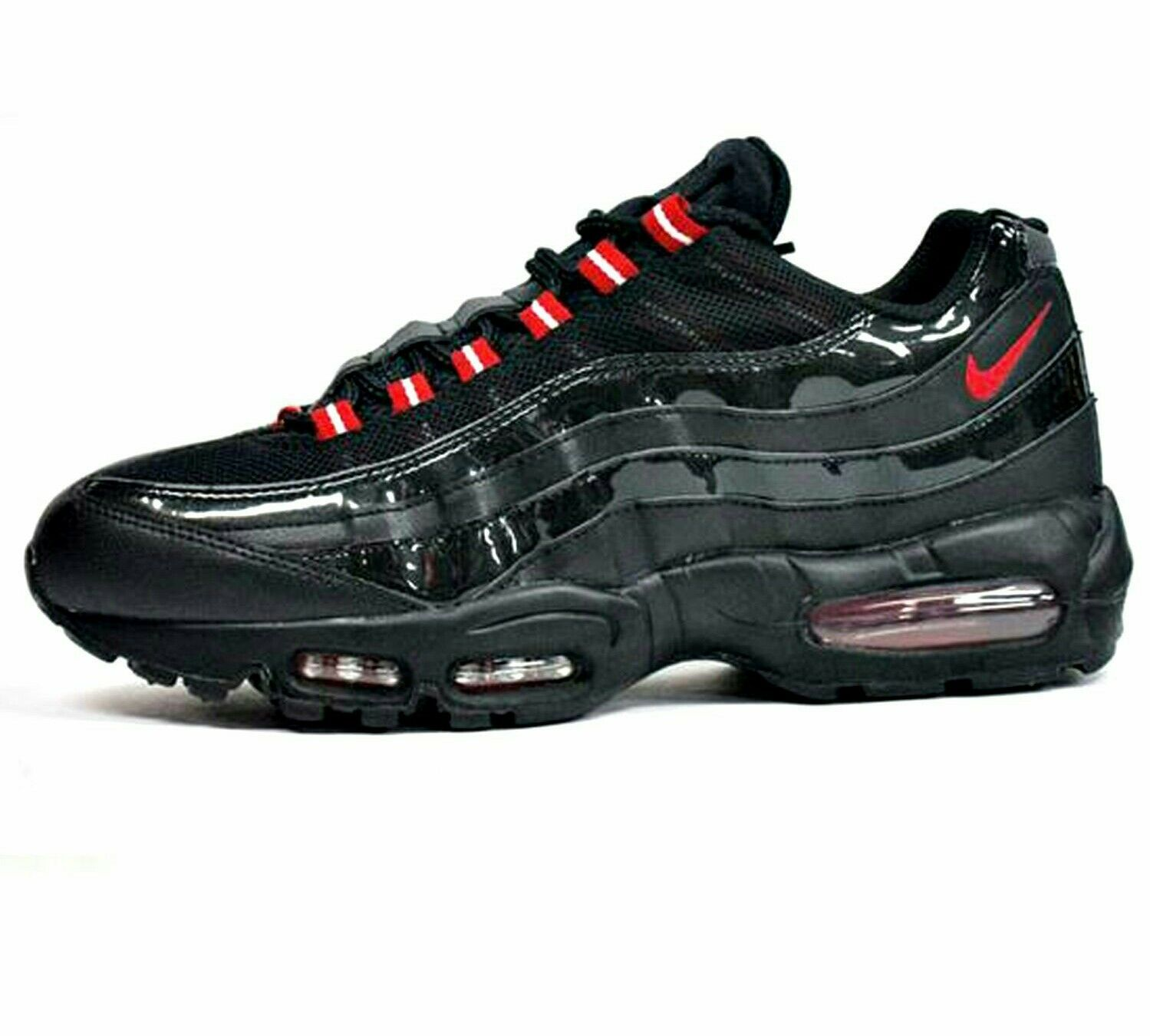 Nike Air Max 95 Black Varsity Red Size 10.5   New
