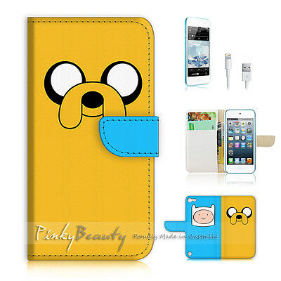 ( For iPod 5 / itouch 5 ) Flip Case Cover! P1539 Adventure Time