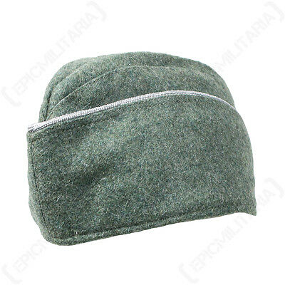 OFFICERS M40 SIDE CAP - Repro WW2 Military Army Hat Field Grey Wool Piping New