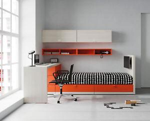 Premium Kinderzimmer - XXL Stauraum Bett - Schreibtisch - 20 Farben ...