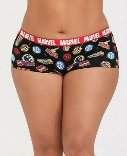 Torrid     Marvel Avengers Logo Cotton Boyshort Panty   NWT  sz 2  plus