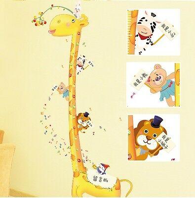 Huge Happy Giraffe Bears Birds Musical Notes Children's Height